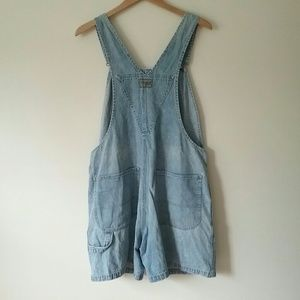 Lee Jeans - Vintage Lee Jean Shorts Denim Overalls Size Large